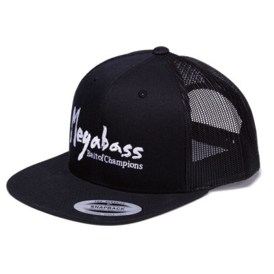 Megabass Trucker Hat Brush Logo ブラック/ホワイト