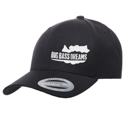 【BIG BASS DREAMS】CURVED BILL HAT BigBassDreams BLACK