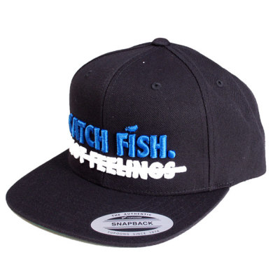 【BIG BASS DREAMS】SNAPBACK HAT CATCH FISH BLACK WITH BLUE