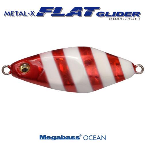 METAL-X FLAT GLIDER(メタルX フラットグライダー) 30g G レッドグローストライプ